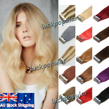 Tape in Hair Extensions Skin Weft 100% Real Remy Human Hair Straight 20/40Pcs AU