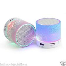 Wireless Mini LED Light Bluetooth Speaker FM Radio MicroSD Slot for Laptop Phone