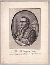 Vatikan, Pabst Pius VII. - Porträt, Stich, Kupferstich um 1820