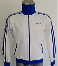 ADIDAS Originals Beckenbauer Pista Top in Bianco & Royal-Taglia Small