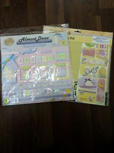 "2 Scrapbook Page Kits Spring And Baby Size 12"" X 12"""