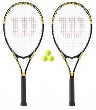 2 x Wilson Tour Tennis Rackets + 3 Tennis Balls RRP £110 L3