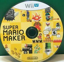 Super Mario Maker (Nintendo Wii U, 2015) DISC ONLY 17817
