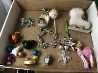 Mix lot Ornament from DISNEY and some Unbranded Colorful Glitter Decorations