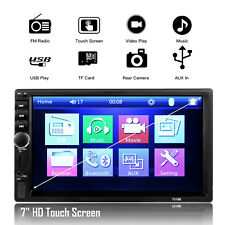"7"" 2 Din Car Fm Radio Mp5 Player Bluetooth Touch Screen Hd Rear View Camera Us (Fits: Ford Aspire)"
