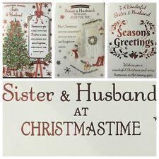 """SISTER AND HUSBAND CHRISTMAS CARD  5.5""""x7.5"""" (XMAS3)"""
