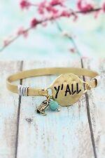 Bracelet Worn Goldtone 'Y'all' With Southern Charm