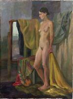 """Russischer Expressionist Öl Leinwand """"Akt"""" 120 x 90 cm"""
