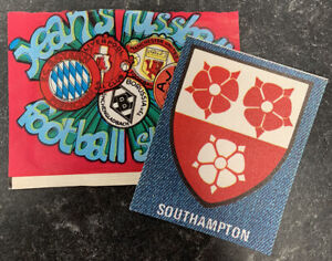 *rare* Fussball Football Jeans Stickers - 1975. Southampton & Empty Packet