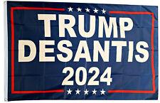Donald Trump FLAG Ron Desantis Blue 2024 3x5ft banner US SHIPPER