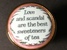 Vintage Halcyon Days Love & Scandal are the Best Sweeteners of Tea Enamel Box
