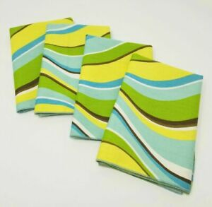 Groovy 16inch Napkins, Set of Four (4) - Cotton Twill
