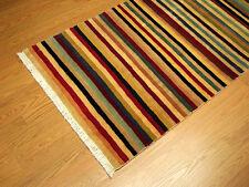 2.6 x 7.6 Handmade Very Fine Vegetable Dye Soft Silky Wool Afghan Gabeh Runner
