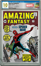 MARVEL - AMAZING FANTASY #15 - SILVER FOIL - CGC 10 GEM MINT FIRST RELEASES