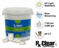 """Rx Clear 3"""" Slow Dissolving Stabilized Chlorine Swimming Pool Tablets - 8 lbs"""