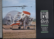 (192) Brochure hélicoptère Aircraft Helicopter Bell 47G-4A