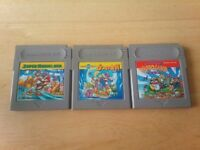 Nintendo Gameboy Super Mario Land 1 / 2 / 3 set Wario Japan GB
