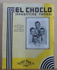 El Choclo (Argentine Tango) - 1935 sheet music - The Cadets photo on cover