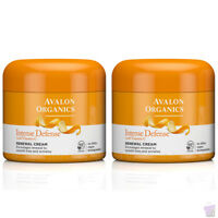 PACK OF 2 Avalon Organics Intense Defense RENEWAL FACE CREAM, Vitamin C, 2x57g