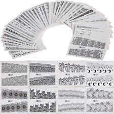 48pcs Nail Art Decals Sexy Lace Flower Totem Water Transfer foil Stickers Decor