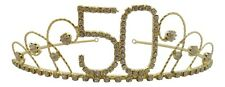 50th Birthday Gifts for Girls 50th Tiara 50th Crown 50th Presents Gold Plated