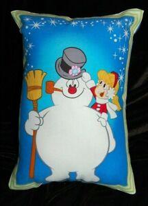 NEW HANDMADE FROSTY THE SNOWMAN & KAREN   HOLIDAY CHRISTMAS PILLOW -