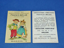 CHROMO CHOCOLATERIE FRANCO-BELGE HALLUIN NORD COSTUMES FRANCE BRESSE