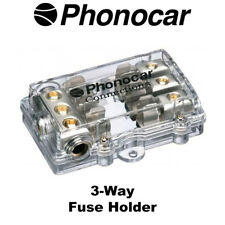 Phonocar 4/488 3-Way AGU Fuse Holder 4AWG Input 8AWG Output Brand NEW