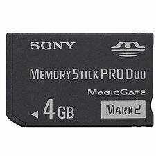 Neu 4GB Sony Memory Stick HD PRO Duo Card 4 GB for PSP