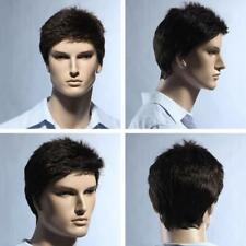 Mens short straight Black Daily life full wig
