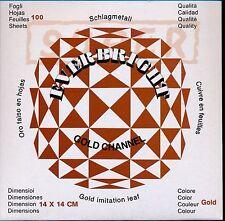 100 sheets Gold Metal Leaf 14 x 14 Leaves Gild Gilding Decoration Imitation Foil