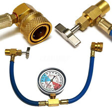 Universal Car Air Conditioning Pressure Gauge AC R134A Refrigerant Recharge Hose