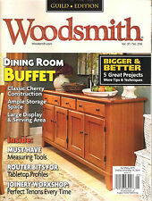 WOODSMITH April/May 2015 DIY Projects Dining Room Buffet Room Divider Shelves