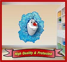Frozen Olaf Wall Print - Disney Snowman Elsa Vinyl Door Sticker Decal Childrens
