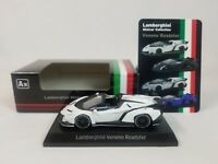 1:64 Kyosho Lamborghini Minicar Collection Veneno Roadster 2014-2015 White NEW A