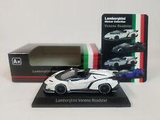 1:64 Kyosho Lamborghini Minicar Collection Veneno Roadster 2014-2015 White NEW A