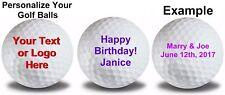 1 Dozen Customized White Golf Balls
