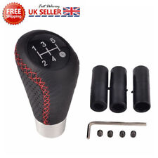 5 Speed Red Stitche Leather Universal Manual Car Gear Stick Shift Knob Shifter