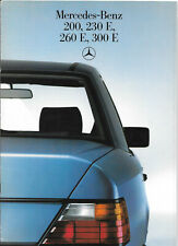 Mercedes 200 230E 260E 300E 1986 UK Market Sales Brochure
