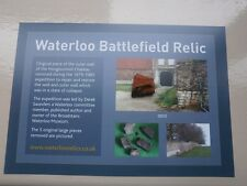 Waterloo battlefield relic piece of Hougoumont wall with certificate
