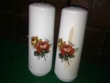 Vintage porcelain salt and pepper shakers - flower s theme made in England