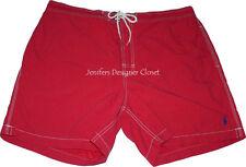 NWT POLO RALPH LAUREN swim trunks XXL red navy pony logo 2XL authentic $80