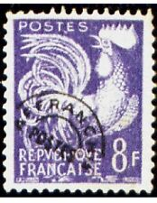 """FRANCE PREOBLITERE TIMBRE STAMP N°109 """"TYPE COQ GAULOIS 8F VIOLET """" NEUF (x) TB"""