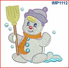 CHRISTMAS SNOWMEN - 10 MACHINE EMBROIDERY DESIGNS - 2 SIZES