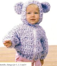 Beary Cute Baby Jacket/Crochet Pattern Instructions Only