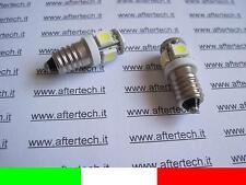 2 2pz COPPIA LAMPADINE LUCI VITE E10 5 LED SMD BIANCO 6000K 6V B16V