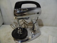 Vintage Hamilton Beach Stand & Hand Held Mixer Model H Stainless No Bowl USA