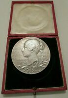 1897🔹️Large Silver Medal Coin Old Veiled Young Queen Victoria #Diamond Jubilee