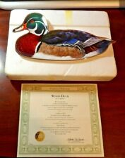 Franklin Mint Wood Duck by A. J. Rudisill Collector's Plate with Coa