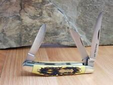 Schrade Uncle Henry Stockman 2018 Stag Stainless Folding Pocket Knife UHS4